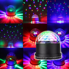 15W RGB LED Stage Light Crystal Magic Ball Effect Light Sound Control DJ Party
