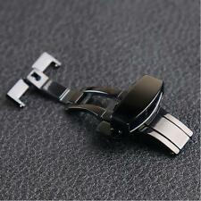 12-22mm Stainless Steel Buckle Butterfly Deployant Watch Band Clasp NEW