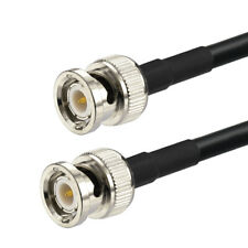 RG58 BNC male to BNC male plug Adapter RF Pigtail Coaxial Jumper Cable 15 -250cm
