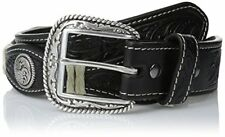 Ariat Men's S Circle Concho Scallop Black Belt - Choose SZ/Color