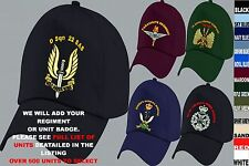 UNITS I TO N EMBROIDERED REGIMENTAL ARMY RAF ROYAL NAVY AIR FORCE BASEBALL CAP