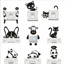 Black Cute Animal Light Switch Decal Vinyl Art Wall Sticker Home Decal Removable