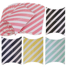12x Stripe Paper Pillow Candy Boxes Birthday Party Wedding Party Favor Gift Box