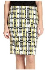 Karen Kane Sunset Yellow Printed Stretch Jersey Knit Pencil Skirt - $79