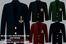 UNITS D TO I EMBROIDERED REGIMENTAL ARMY RAF  NAVY BLAZER JACKET BADGE BUTTONS