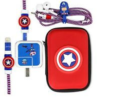 Cartoon USB Cable Earphone Protector Set With Earphone Box Cable Winder Stickers