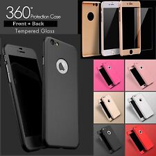Hybrid 360° Shockproof Case + Tempered Glass Cover For Apple iPhone 6 6s