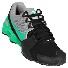Nike Shox Avenue Leather Running Casual Shoes Sneakers Black/Grey/Green 833584