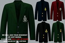 UNITS Q TO R EMBROIDERED REGIMENTAL ARMY RAF NAVY BLAZER JACKET BADGE BUTTONS