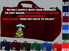 UNITS N TO Q EMBROIDERED REGIMENTAL ARMY ROYAL NAVY RAF KIT BAG SPORTS HOLDALL