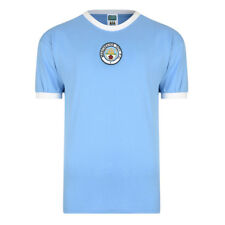 Official Retro Manchester City 1972 Retro Football Shirt 100% COTTON