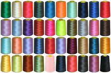 120s SEWING THREAD 100% SPUN POLYESTER 5000 YRDS X4 CONES, VARIOUS COLS, ART VG1