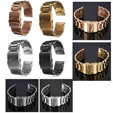 18/20/22/24MM Stainless Steel Watch Strap Double Lock Bracelet Straight End