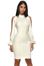 Sexy Women's Cut Out Sleeve Stretch Evening Cocktail Bandage Party Mini Dress