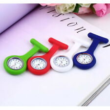 Nurse Pocket Watch Brooch Mini Portable Silicone Stainless Steel Butterfly DS