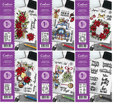 Crafters Companion A6 JULY Christmas Collection Rubber Stamps