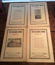 1920 AU SABLE NEWS, CONSUMERS POWER EMPLOYEE MAGAZINE, 4 issues