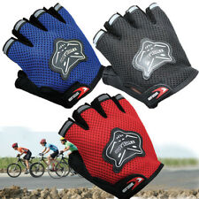 Kids Adults Fingerless Sports Cycling Half Finger Bicycle Racing Biking Gloves
