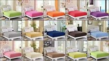1 PCs Solid Fitted Bed Sheet 13 Inch Deep Pocket Warm Comfort Egyptian Cotton