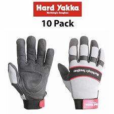 Hard Yakka Gloves *10 PacK* Armorskin Hawk Synthetic Leather Safety Work Y26075