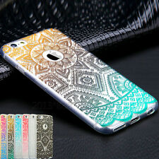 Pattern Rubber Soft Silicone Phone Back Case Cover for Apple iPhone 5s 6 7 Plus