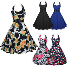 Retro 1950's Women Rockabilly Dress Swing Pinup Housewife Cocktail Prom Dress