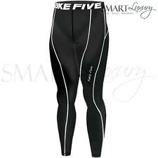 Mens Black Thermal Compression Pants Sports Base Layer Tights Gym AFL Take 5