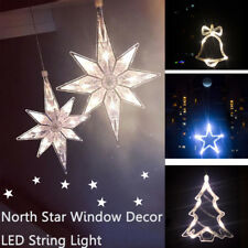 Star Bell Tree LED Sucker Christmas String Lights Decor Party Lamp Fairy Window