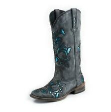 Roper Women's Fashion with Bling Black Leather Western Boot #09-021-0901-0672BR