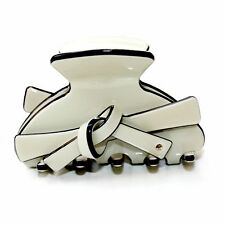 Moliabal Medium Hair Claw in Cream W/ Bow Accents MSRP $50