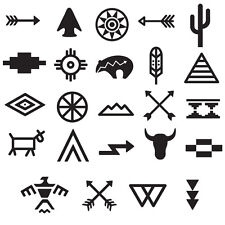 Tribal Symbols Temporary Tattoo Set #668 - Temporary Tattoos