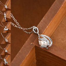 Popular Love Wish Pearl Necklace Oyster Drop Pendant Gift