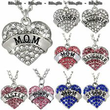 Engraved Heart Necklaces Silver Love Gift For Her Women Friend Cousin Sister Mum