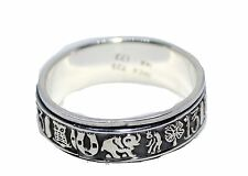 Lucky 7 Talisman Good Lucky Spinner Ring .925 Sterling Silver 12 Mexico Silver
