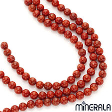 [1+1 AT 30% OFF] Natural Red Sponge Coral Gemstone Round 8mm Beads 15.5'' Strand