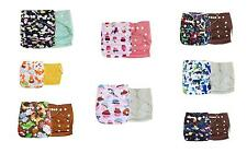 New 2PCS Baby Infant Cloth Diaper One Size Reusable TPU Nappy Covers Inserts