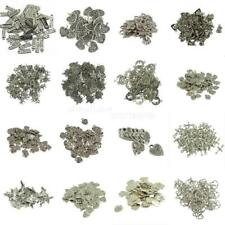 50PCS Antique Silver Beautiful Flower Heart Charm Pendant For Jewelry Making
