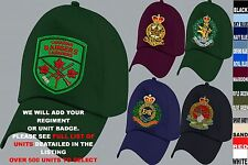 UNITS 1ST TO L EMBROIDERED ROYAL CANADIAN ARMY NAVY AIR FORCE BASEBALL CAP HAT