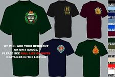 UNITS 1ST TO L  EMBROIDERED ROYAL CANADIAN ARMY NAVY AIR FORCE T SHIRT