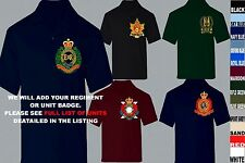 UNITS 1ST TO L  EMBROIDERED ROYAL CANADIAN ARMY NAVY AIR FORCE POLO SHIRT