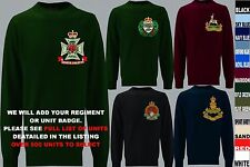 UNITS 1ST TO L  EMBROIDERED ROYAL CANADIAN ARMY NAVY AIR FORCE SWEATSHIRT
