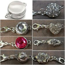 Very Strong Magnetic Clasp Converter for Necklace Silver Plated Fast US Ship