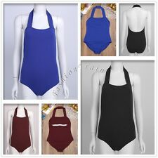 Sexy Women Halter Gymnastics Ballet Leotard Dance Stretchy Bodysuit Dress #S-XL