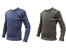 PACK OF 2 PULLOVERS - COMMANDO GREEN & RAF BLUE - GRADE 1 - VARIOUS SIZES