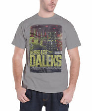 Studiocanal Dr Who & Daleks vintage movie poster new Official Mens Grey T Shirt
