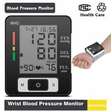 Digital LCD Wrist Blood Pressure Monitor Heart Beat Rate Pulse Meter Measure LJ