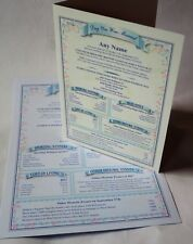 Day you were Born Personalised Birthday Wedding Chrisened Certificate and Card