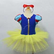 Girls Kids Snow White Princess Ballet Tutu Fancy Dress Up Outfit Cosplay Costume