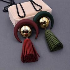 New Geometric Pattern Solid Color Fashion Long Chain Pedant For Women