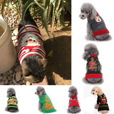 Winter Christmas Pet Clothes Dog Cat Sweater Puppy Warm Jumper Coat Clothing